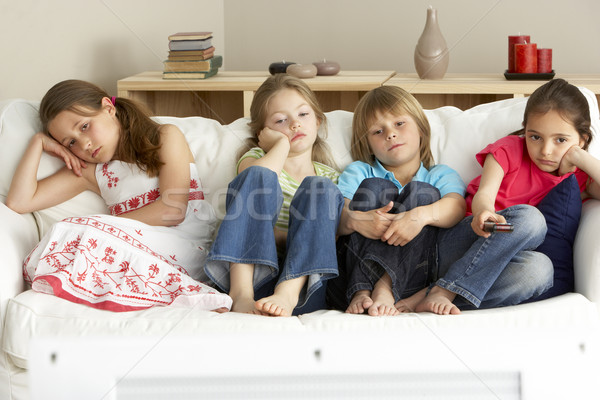 Young Children Watching Television at Home Stock photo © monkey_business