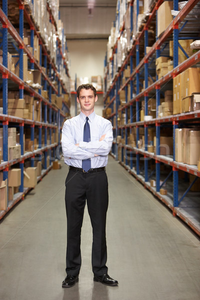 Сток-фото: портрет · менеджера · склад · бизнесмен · окна · мужчин