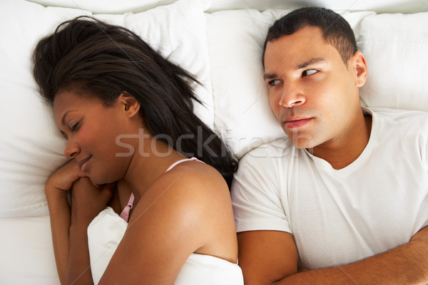 Couple In Bed With Relationship Difficulties Stock photo © monkey_business