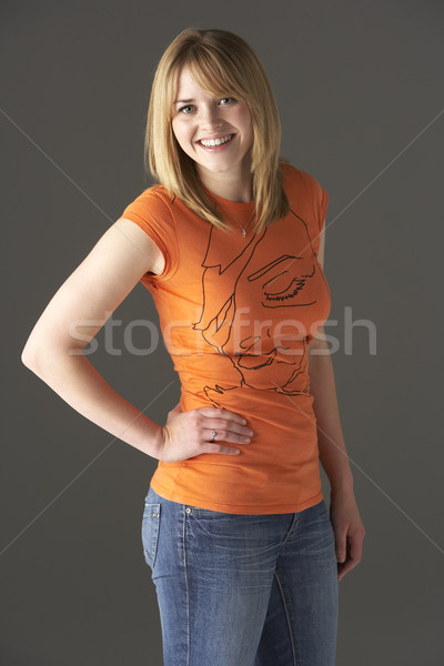 Studio Portrait Of Standing Teenage Girl  Stock photo © monkey_business