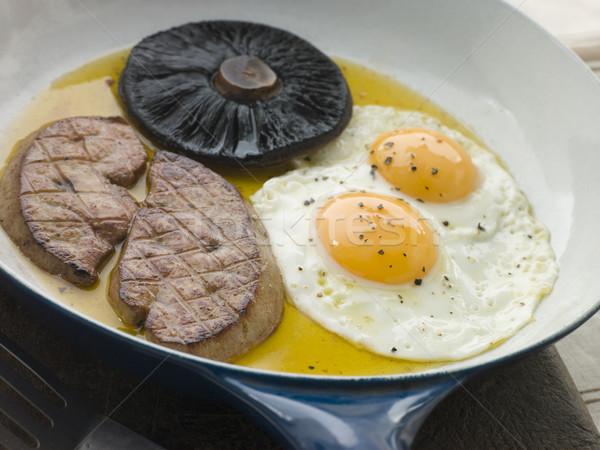 Stok fotoğraf: Yumurta · mantar · gıda · kahvaltı · pişirme · biber