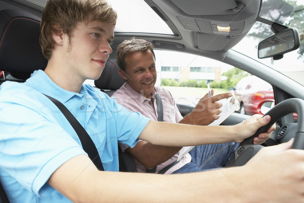 Teenage Boy Taking A Driving Lesson Stock photo © monkey_business