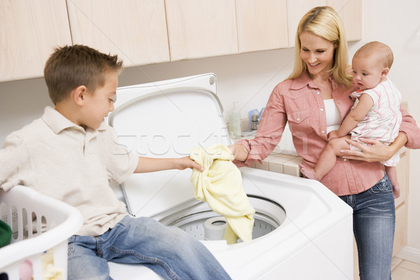 Mother And Children Doing Laundry  Stock photo © monkey_business
