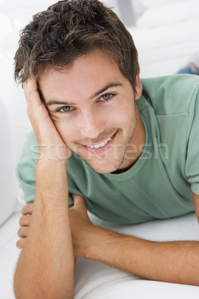 Homme salon souriant portrait salon personne Photo stock © monkey_business