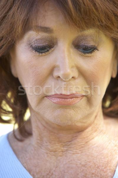 senior,portrait,Woman,Fifties,Serious,Anxious,Worried,Headshot,P Stock photo © monkey_business
