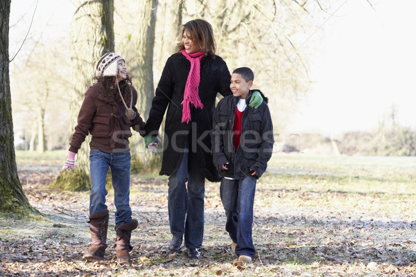 Mother And Children On Autumn Walk Stock photo © monkey_business