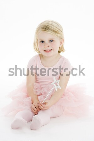 Kicsi ballerina ül padló lány gyermek Stock fotó © monkey_business