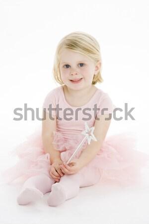мало балерины сидят полу девушки ребенка Сток-фото © monkey_business