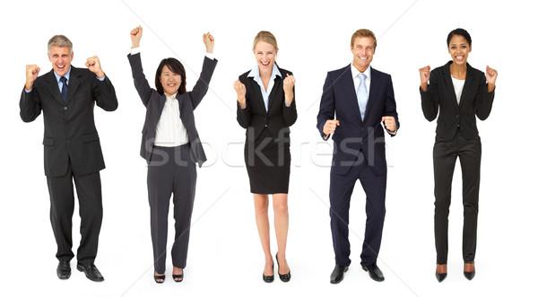 Trionfante gruppo imprenditori donne business imprenditore Foto d'archivio © monkey_business