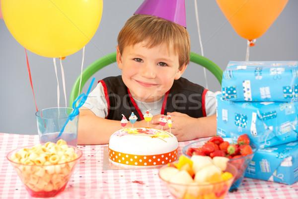 именинный торт подарки вечеринка счастливым рождения Сток-фото © monkey_business