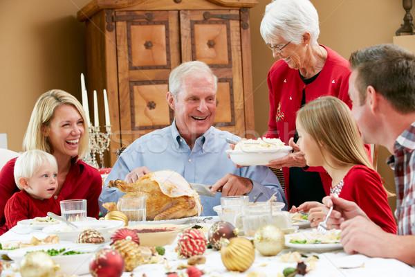 Natale pasto famiglia bambini Foto d'archivio © monkey_business