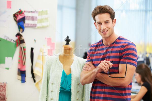Male Fashion Designer In Studio Stock photo © monkey_business