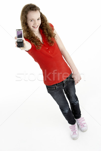 Young Girl With Mobile Phone Stock photo © monkey_business