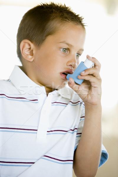 Boy Using An Inhaler Stock photo © monkey_business