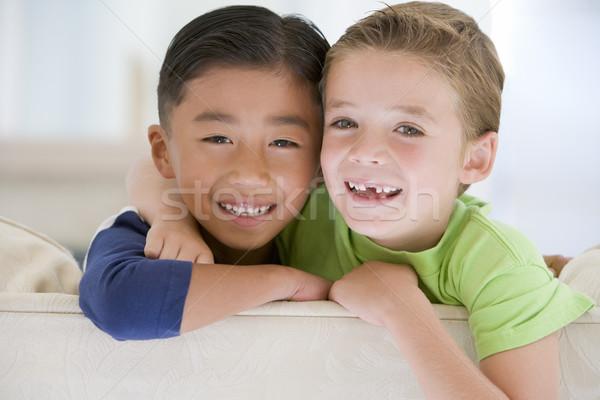 Ritratto due ragazzi bambini felice bambino Foto d'archivio © monkey_business