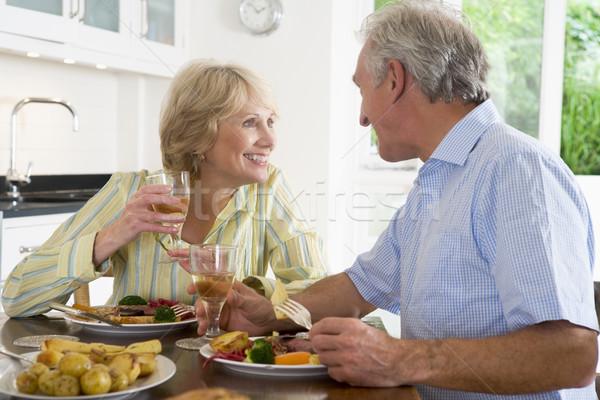Elderly Couple Enjoying meal,mealtime Together Stock photo © monkey_business