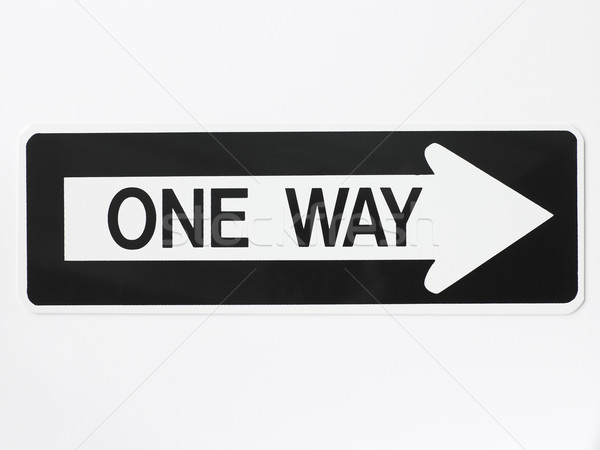One Way Road Sign Stock photo © monkey_business