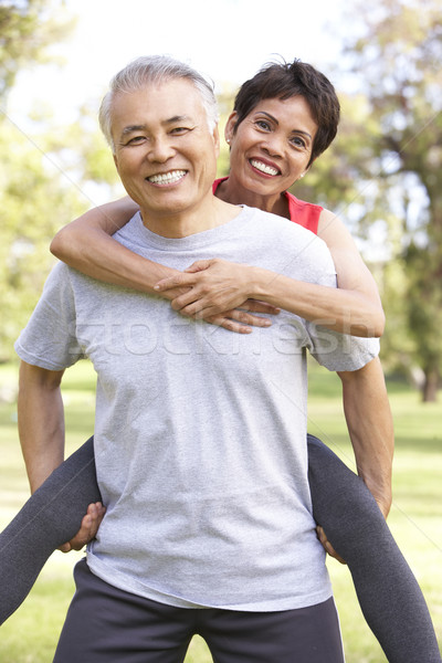 Senior Couple Working Out In Park Stock photo © monkey_business