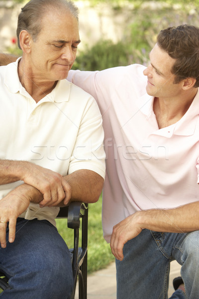 Senior Man Having Serious Conversation Adult Son Stock photo © monkey_business