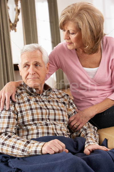 Senior Woman Caring For Sick Husband Stock photo © monkey_business