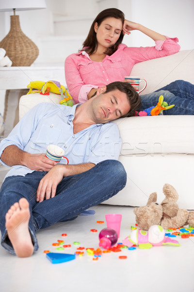 Exhausted parents resting Stock photo © monkey_business