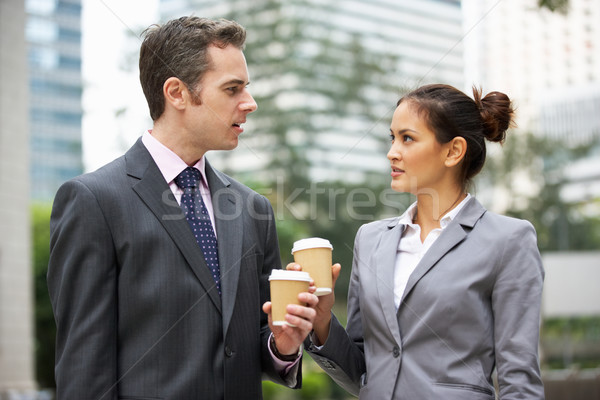 Сток-фото: бизнесмен · деловая · женщина · улице · бизнеса