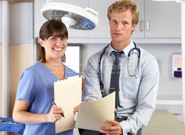 Portrait Of Doctor And Nurse In Doctor's Office Stock photo © monkey_business