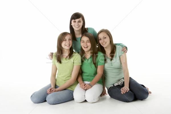 Grupo mujer familia retrato Foto stock © monkey_business