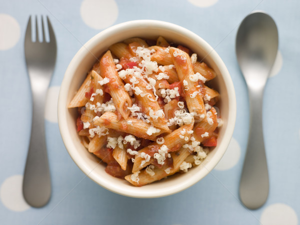 Penne Pasta Tomato Sauce and Grated Cheese Stock photo © monkey_business