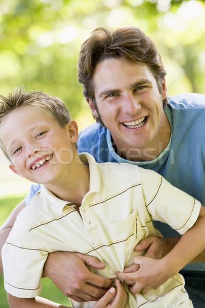 ストックフォト: 男 · 屋外 · 笑みを浮かべて · 愛