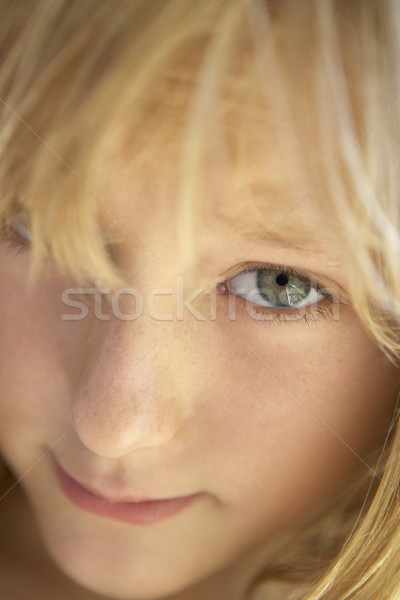 Portrait timide fille enfants enfant personne Photo stock © monkey_business