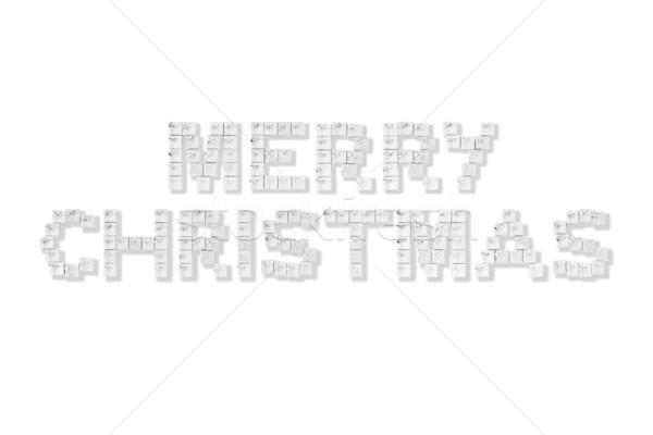 правописание веселый Рождества серебро белый Сток-фото © monkey_business