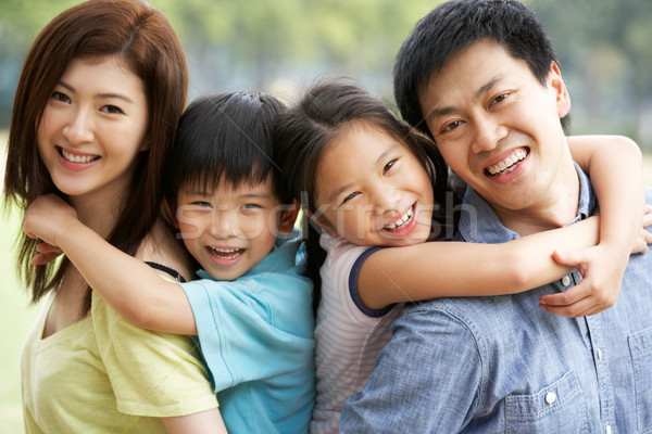 Portrait Of Chinese Family Relaxing In Park Together Stock photo © monkey_business