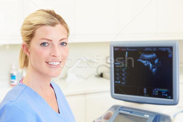 Portrait Of 4D Ultrasound Scanning Machine Operator Stock photo © monkey_business