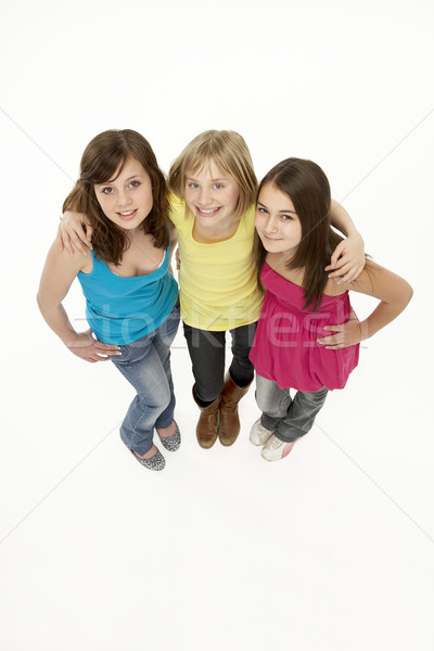 Group Of Three Young Girls In Studio Stock photo © monkey_business