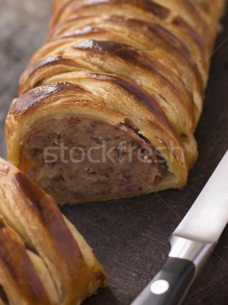 Sausage Meat Platt on a Chopping Board Stock photo © monkey_business