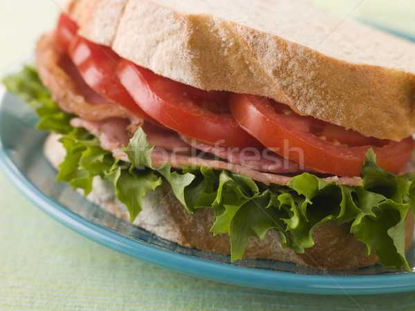 BLT on white bread Stock photo © monkey_business