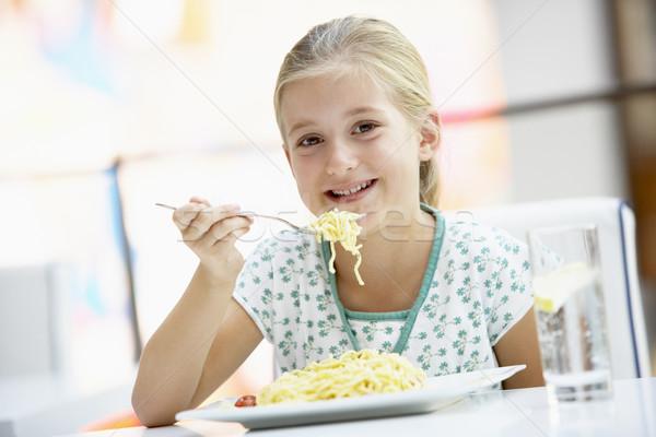 Nő eszik ebéd kávézó étel boldog Stock fotó © monkey_business