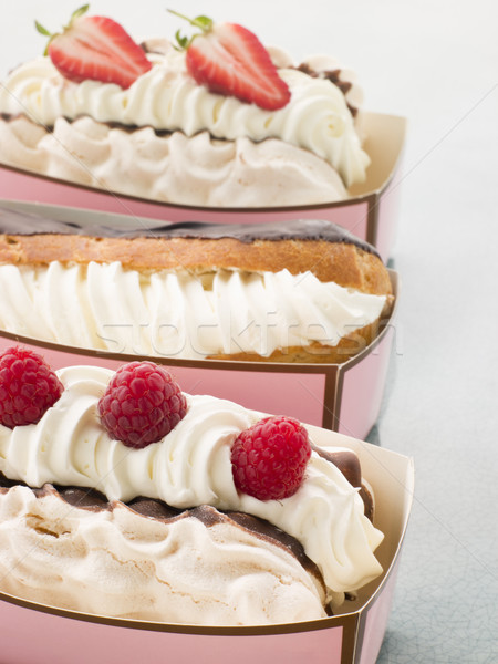 Creamed Meringue And Chocolate Eclair Stock photo © monkey_business