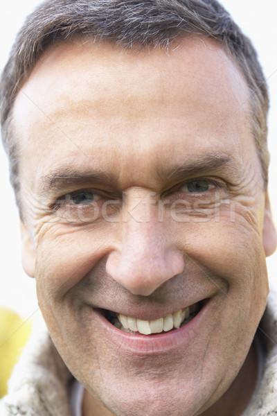 Foto d'archivio: Sorridere · fotocamera · faccia · uomo · felice