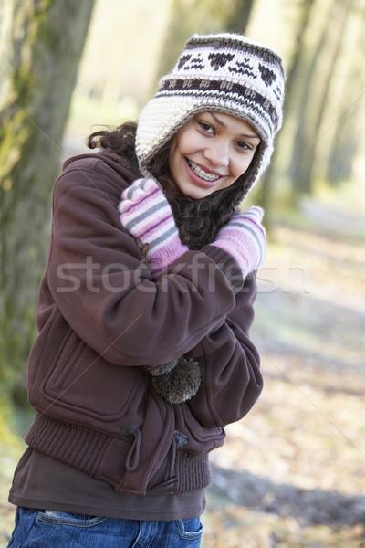 Stock photo: Young Girl On Autumn Walk