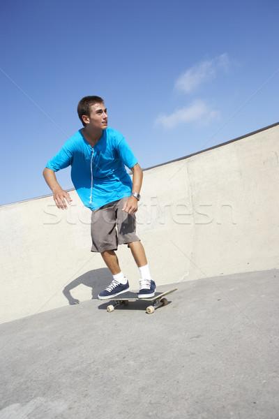 Teenage Boy In Skateboard Park Stock photo © monkey_business