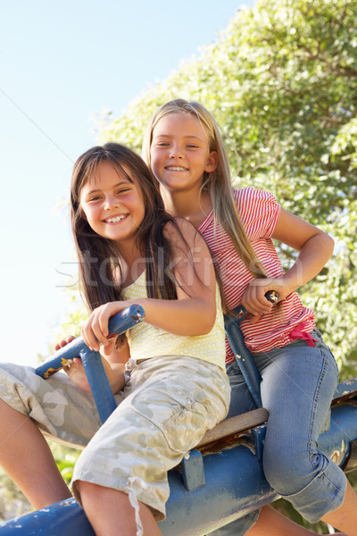 Two Girls Riding On See Saw In Playground Stock photo © monkey_business