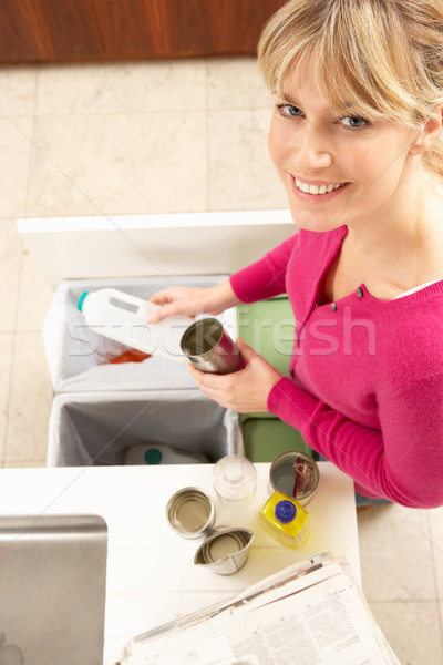 Woman Recyling Waste At Home Stock photo © monkey_business