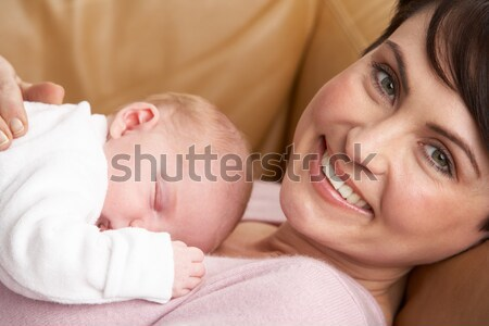 Portrait Of Mother With Newborn Baby At Home Stock photo © monkey_business