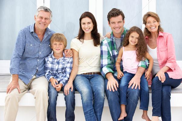 Portrait multi-generation family outdoors Stock photo © monkey_business