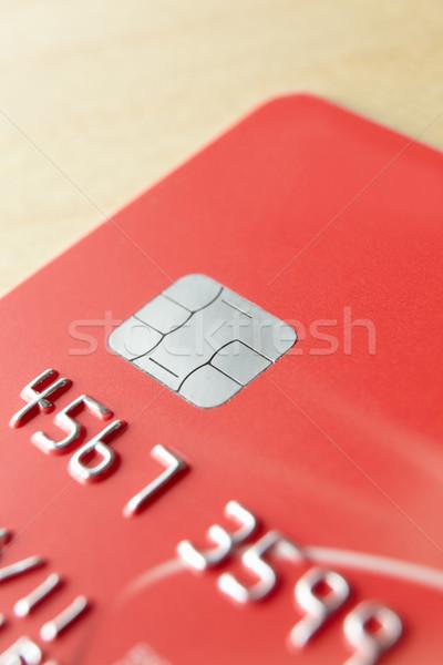 Pormenor vermelho financiar cartão Foto stock © monkey_business