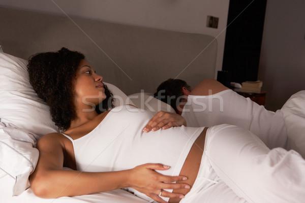 Pregnant woman unable to sleep Stock photo © monkey_business