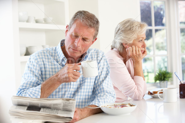 Retired couple eating breakfast Stock photo © monkey_business