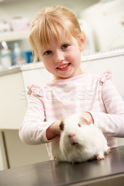 Child Taking Guinea Pig To Veterinary Surgery For Examination Stock photo © monkey_business
